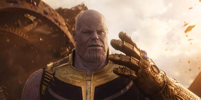 Thanos met Infinity Gauntlet