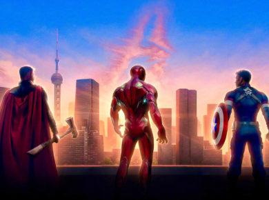 Thor, Iron Man en Captain America