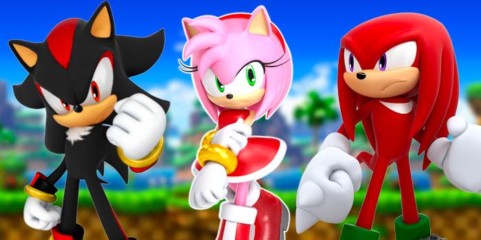 Shadow, Amy Rose en Knuckles